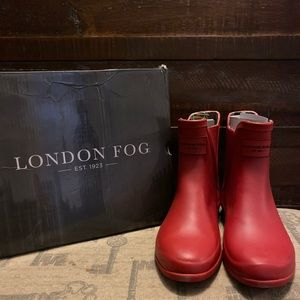 LONDON FOG PICCADILLY RAIN BOOT- RED size 7
